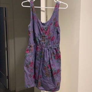 Jack wills purple floral dress